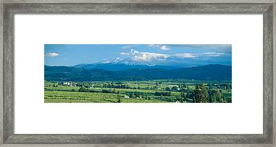 Hood River Valley And Mount Hood, Oregon Framed Print by Panoramic Images
