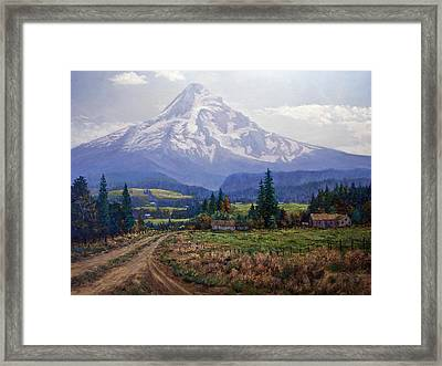 Hood River Valley Framed Print by Donald Neff