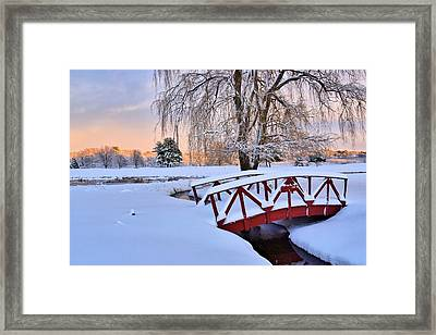 Hoodkroft Winter2 Framed Print by John Sweeney