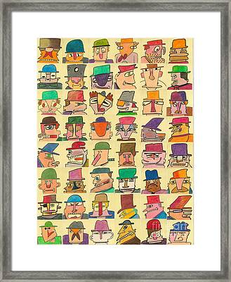 Hoodlums With Hats  Framed Print by Ed Attanasio