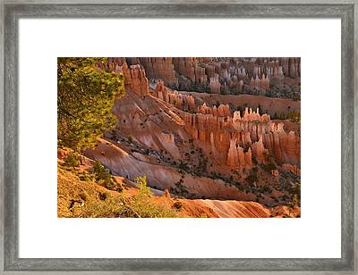 Framed Print featuring the photograph Hoodoos At Sunrise by Stephen  Vecchiotti