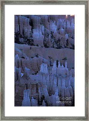 Hoodoos Before Dawn Framed Print by Stan and Anne Foster
