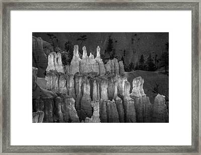 Hoodoos In Monochrome Framed Print by Joseph Smith