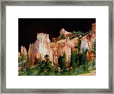 Hoodoos Framed Print by Lester Nielsen