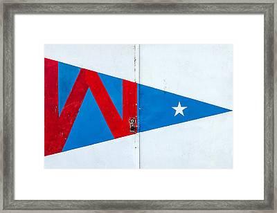 Hoofer Sailing Club Burgee Framed Print by Todd Klassy