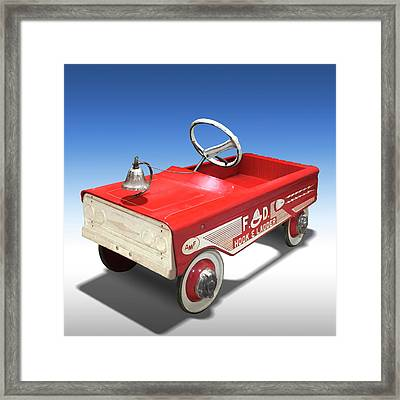 Framed Print featuring the photograph Hook And Ladder Peddle Car by Mike McGlothlen