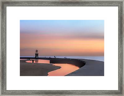 Hook Pier Lighthouse - Chicago Framed Print