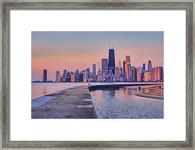 Hook Pier - North Avenue Beach - Chicago Framed Print
