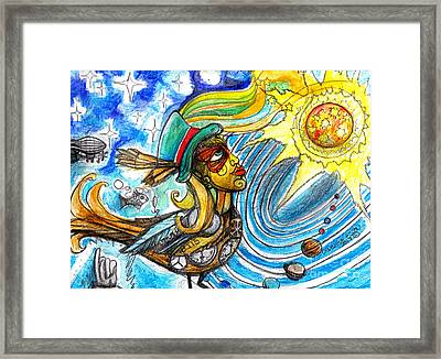 Hooked By The Worm Framed Print by Genevieve Esson