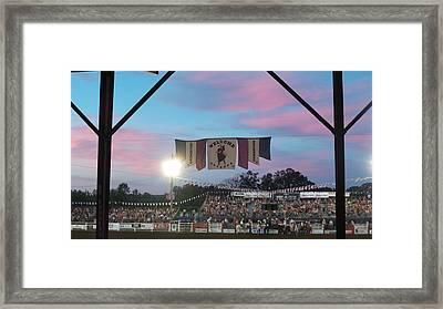 Hooked On An 8 Second Ride Framed Print