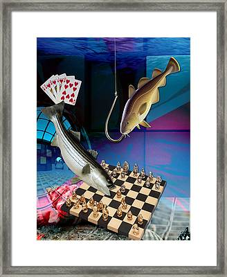 Hooked On Game Playing Framed Print