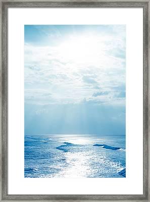 Hookipa Beach Blue Sensation Framed Print by Sharon Mau