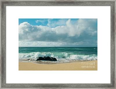 Hookipa Beach Pacific Ocean Waves Maui Hawaii Framed Print