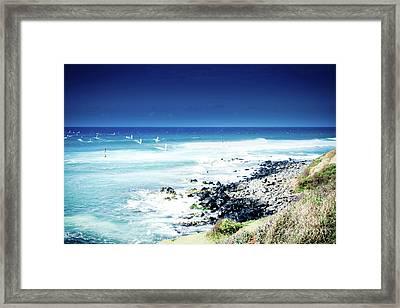 Hookipa Blue Sensation Framed Print