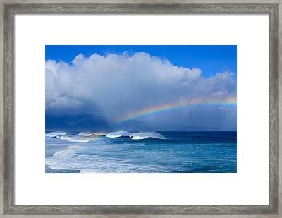 Ho'okipa Rainbow Framed Print