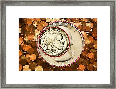 Hoop And Change Framed Print
