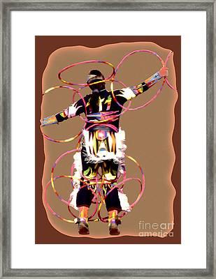 Hoop Dancer 2 Framed Print by Linda  Parker