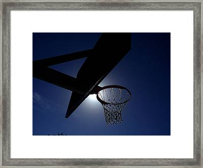 Hoop Dreams Framed Print