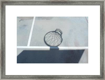 Hoop Shadow Framed Print