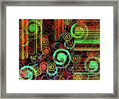Hoopla Framed Print by Bonnie Bruno