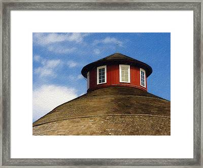 Framed Print featuring the photograph Hoosier Cupola by Sandy MacGowan