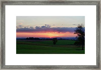 Hoosier Sunset Framed Print