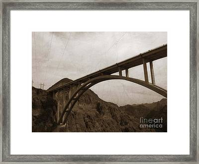 Hoover Dam Bridge Framed Print