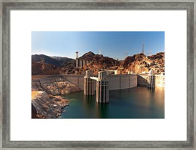 Hoover Dam Framed Print by Melody Watson