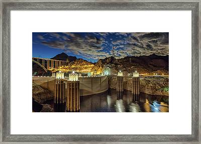 Framed Print featuring the photograph Hoover Dam by Michael Rogers