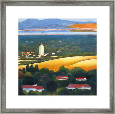Hoover Tower From Hills Framed Print