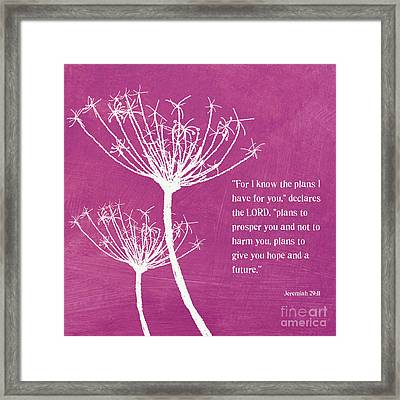 Hope And Future Framed Print by Linda Woods