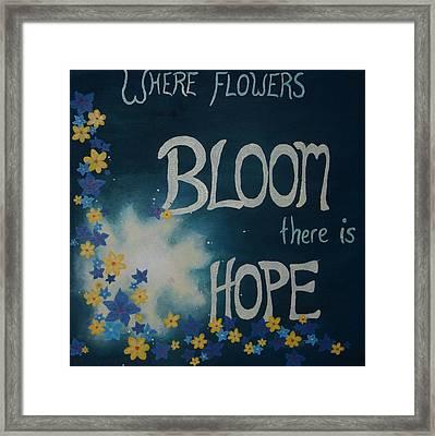 Hope Blossoms Framed Print by Amanda Clark
