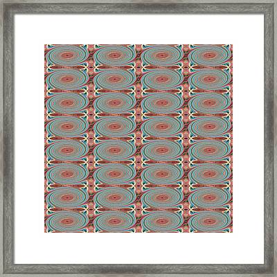 Hope Does Spring Eternal - T  J O D 31 Arrangement 1 Swirled Tile 4x8 Inverted Framed Print by Helena Tiainen