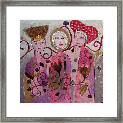 Hope Faith Love Framed Print by Aliza Souleyeva-Alexander
