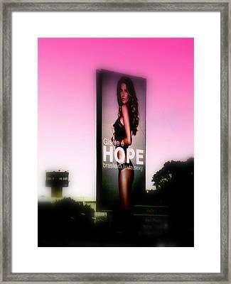 Hope For All Single Men Framed Print