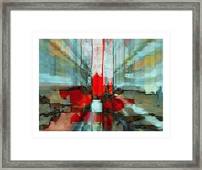 Framed Print featuring the mixed media Hope For Haiti by Fania Simon