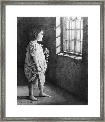 Hope In Desolation Framed Print