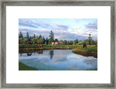 Hope Is Not A Dream - Hope Valley Art Framed Print