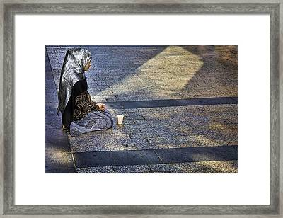 Hope On Champs-elysee Framed Print