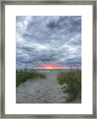 Hope On The Horizon Delray Beach Florida  Framed Print
