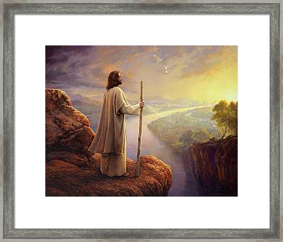 Hope On The Horizon Framed Print by Greg Olsen
