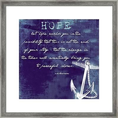 Hope Peaceful Shores V1 Framed Print by Brandi Fitzgerald
