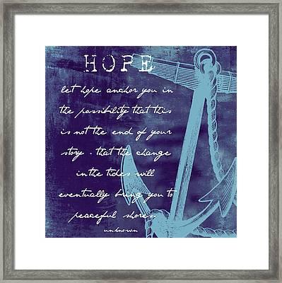 Hope Peaceful Shores V2 Framed Print by Brandi Fitzgerald