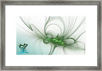 Hope Framed Print by Sandra Bauser Digital Art