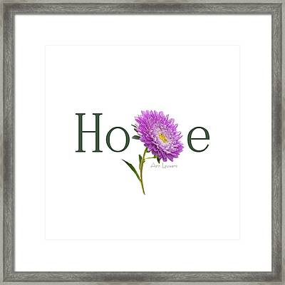 Hope Shirt Framed Print