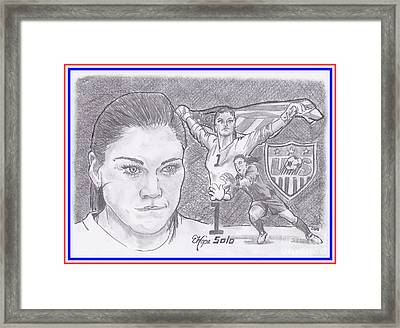 Hope Solo Framed Print by Chris DelVecchio