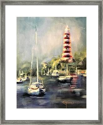 Hope Town Harbor Framed Print