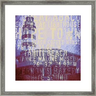 Hope Town Lighthouse Framed Print by Brandi Fitzgerald