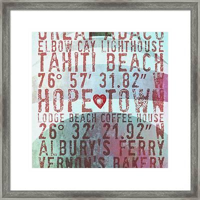 Hope Town Lighthouse V2 Framed Print by Brandi Fitzgerald