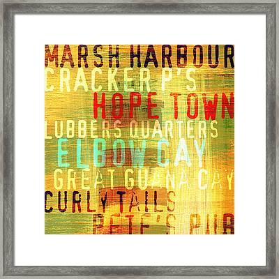 Hope Town Lighthouse V3 Framed Print by Brandi Fitzgerald